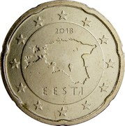 Estonia 20 Euro Cent 2011 KM# 65 Euro Coinage 2011 EESTI coin obverse