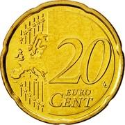 Cyprus 20 Euro Cent Kyrenia ship 2008 KM# 82 20 EURO CENT LL coin reverse