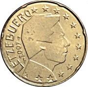 Luxembourg 20 Euro Cent Sint Servaasbrug 2007 (a) Proof KM# 90 LËTZEBUERG 2018 GC coin obverse