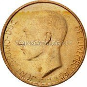 Luxembourg 20 Francs 1990 KM# 67 Standard Coinage Resumed coin obverse