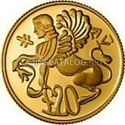 Cyprus 20 Pounds 1992 Proof KM# 68 Reform Coinage coin reverse
