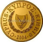 Cyprus 20 Pounds 2004 Proof KM# 87 Reform Coinage coin obverse