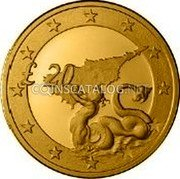 Cyprus 20 Pounds 2004 Proof KM# 87 Reform Coinage coin reverse