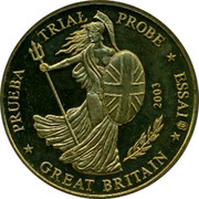 UK 20 ¢ Trial GB 2003 PRUEBA TRIAL PROBE ESSAI GREAT BRITAIN 2003 coin obverse