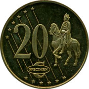 UK 20 ¢ Trial GB 2003 20 ¢ SPECIMEN coin reverse