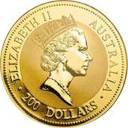 Australia 200 Dollars Australian Kangaroo 2009 P Proof ELIZABETH II AUSTRALIA 200 DOLLARS coin obverse
