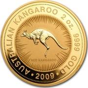 Australia 200 Dollars Australian Kangaroo 2009 P Proof AUSTRALIAN KANGAROO 2 OZ. 9999 GOLD RED KANGAROO 2009 coin reverse