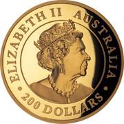 Australia 200 Dollars High Relief Gold Wedge-Tailed Eagle 2019 ELIZABETH II AUSTRALIA 200 DOLLARS coin obverse