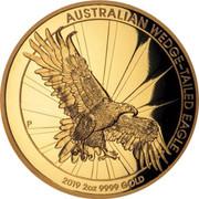 Australia 200 Dollars High Relief Gold Wedge-Tailed Eagle 2019 AUSTRALIAN WEDGE-TAILED EAGLE 2 OZ 9999 GOLD 2019 coin reverse