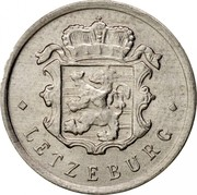 Luxembourg 25 Centimes 1967 KM# 45a.2 Standard Coinage Resumed 25 CMES 1965 coin obverse