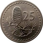Cyprus 25 Mils 1980 KM# 40 Republic 25 coin reverse