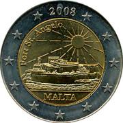 Malta 2E Fort St. Angelo 2008 UNC 2008 FORT ST. ANGELO MALTA coin obverse