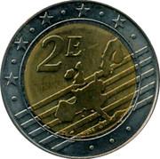 Malta 2E Fort St. Angelo 2008 UNC 2E coin reverse
