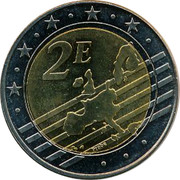 Slovenia 2E Treaty of Rome 2007 X# Pn46 2E PROBE coin obverse