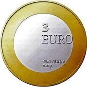Slovenia 3 Euro You are children of mother Slovenia 2019 3 EURO SLOVENIJA 2019 coin obverse