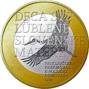 Slovenia 3 Euro You are children of mother Slovenia 2019 DECA STE LÜBLENE SLOVENSKE MATERE PRIKLJUČITEV PREKMURJA K MATIČNI DOMOVINI 1919 coin reverse