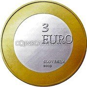 Slovenia 3 Euros (You are children of mother Slovenia) 3 EURO SLOVENIJA 2019 coin obverse