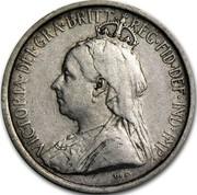 Cyprus 3 Piastres Victoria 1901 KM# 4 VICTORIA∙DEI∙GRA∙BRITT∙REG∙FID∙DEF∙IND∙IMP∙ coin obverse