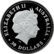 Australia 30 Dollars Kookaburra 2005 P ELIZABETH II AUSTRALIA 30 DOLLARS IRB coin obverse