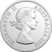 Australia 5 Cents Echidna (1st portrait) 2019 UNC ELIZABETH II AUSTRALIA 2019 coin obverse