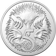 Australia 5 Cents Echidna (1st portrait) 2019 UNC 5 SD coin reverse