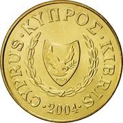 Cyprus 5 Cents Type 2 coat of arms 2004 KM# 55.3 CYPRUS ∙ ΚΥΠΡΟΣ ∙ KIBRIS ∙ 2004 1960 coin obverse