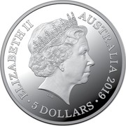 Australia 5 Dollars Treaty of Versailles 2019 ELIZABETH II AUSTRALIA 2019 IRB 5 DOLLARS coin obverse