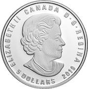 Canada 5 Dollars Zodiac - Taurus 2019 ELIZABETH II CANADA D . G. REGINA 5 DOLLARS SB coin obverse