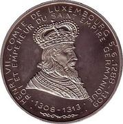 Luxembourg 5 ECU 35th Anniversary European Investmentbank 1993 X# 28 HENRI VII., COMTE DE LUXEMBOURG 5.6.1288 -1309 ROI EMPEREUR DU SAINT EMPIRE GERMANIQUE 1308-1313 coin obverse