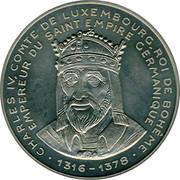 Luxembourg 5 ECU 40 years European Parliament Charles IV 1992 UNC X# 21 CHARLES IV. COMTE DE LUXEMBOURG, ROI DE BOHEME, EMPEREUR DU SAINT EMPIRE GERMANIQUE •1316-1378• coin obverse
