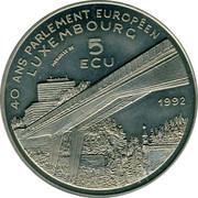 Luxembourg 5 ECU 40 years European Parliament Charles IV 1992 UNC X# 21 40 ANS PARLEMENT EUROPÉEN LUXEMBOURG MEDAILLE DE 5 ECU 1992 coin reverse
