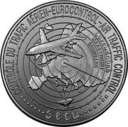 Luxembourg 5 ECU Eurocontrol - Air Traffic Control 1996 X# 43 CONTRÔLE DU TRAFIC AÉRIEN-EUROCONTROL-AIR TRAFFIC CONTROL 5 ECU LUXEMBOURG MAASTRICHT BRUXELLES coin obverse