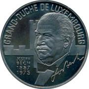Luxembourg 5 ECU Joseph Bech 1993 UNC X# 35 GRAND-DUCHE DE LUXEMBOURG JOSEPH BECH 1887- 1975 coin obverse