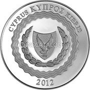 Cyprus 5 Euro 2012 Proof KM# 98 Euro Coinage coin obverse