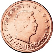 Luxembourg 5 Euro Cent Henri I 2002 (u) Proof KM# 77 LËTZEBUERG 2002 GC coin obverse