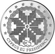 Cyprus 5 Euro Cyprus EU Presidency 2012 Proof KM# 98 € 5 CYPRUS UE PRESIDENCY coin reverse