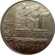 Luxembourg 5 EURO Echternach 1998 Unc X# 86 ECHTERNACH 698 - 1998 coin obverse
