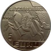 Luxembourg 5 EURO Echternach 1998 Unc X# 86 LËTZEBUERG 1998 5 EURO coin reverse