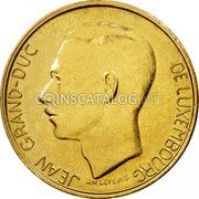 Luxembourg 5 Francs 1986 KM# 60.2 Standard Coinage Resumed coin obverse