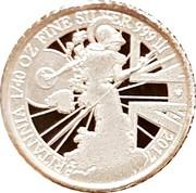UK 5 Pence Britannia Modern 2017 Proof BRITANNIA 1/40 OZ FINE SILVER 999 2017 LWT coin reverse