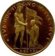 Malta 5 Scudo X# 66 Decimal Coinage CVB∙HOC∙SIGNO∙MILIIAMVS 5∙SCVDI coin reverse