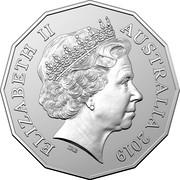 Australia 50 Cents 90th Anniversary of The Ghan 2019 BU ELIZABETH II AUSTRALIA 2019 IRB coin obverse