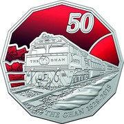 Australia 50 Cents 90th Anniversary of The Ghan 2019 BU 50 NR 75 THE GHAN NR75 TD THE GHAN 1929-2019 coin reverse