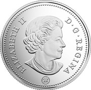 Canada 50 Cents (Canada 150 Logo) ELIZABETH II D. G. REGINA coin obverse