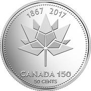 Canada 50 Cents (Canada 150 Logo) CANADA 1867-2017 50 CENTS coin reverse