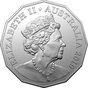 Australia 50 Cents Coat of Arms (6th portrait) 2019 UNC ELIZABETH II AUSTRALIA 2019 JC coin obverse