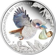 Australia 50 Cents Congratulations On Your Baby 2017 Proof CONGRATULATIONS ON YOUR BABY coin reverse