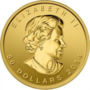 Canada 50 Dollars Five Blessings 2014 KM# 1729a ELIZABETH II 50 DOLLARS 2014 coin obverse