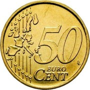 Luxembourg 50 Euro Cent 1st map 2002 (u) Proof KM# 80 50 EURO CENT LL coin reverse