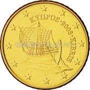 Cyprus 50 Euro Cent 2008 KM# 83 Euro Coinage coin obverse